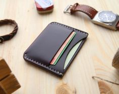 Horween Chromexcel 8 Leather Wallet Mens Bifold Wallet with