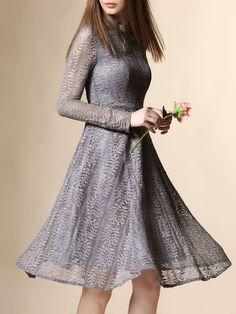 Lace Pierced Cotton-blend Midi Dress | NEXIIA
