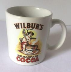 Wilburs Breakfast Cocoa Mug Advertising Coffee Cup