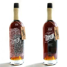 """thedesk: """" Arcadebox designed a packaging for Tomoka, the bottle tells the story of Captain McCoy and the inspiration behind Tomoka. """"Tomoka is the legendary schooner Captain Bill McCoy used for. Cool Packaging, Bottle Packaging, Packaging Design, Design Package, Label Design, Wine Design, Graphic Design, Design Da Garrafa, Tequila"""