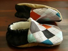 Argyle baby shoes