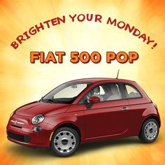 Got the Monday Blues?  Brighten your day with the 2015 #Fiat 500 POP at a LOW cost of $10,995! Visit #MossyFiat TODAY and drive away satisfied! #DBFL