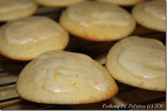 Lemon Ricotta Cookies with Lemon Glaze