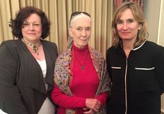 Beyond GM Directors Pat Thomas and Francesca Price with Jane Goodall Pat Thomas, Jane Goodall, Us Government, Alternative News, My Passion, New Books, Beauty, My Crush