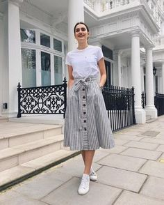 Gorgeous 49 Best Modest Summer Outfits Ideas That Looks Cool Source by outfitscial outfits modest Modest Summer Outfits, Casual Skirt Outfits, Mode Outfits, Spring Outfits, Dress Outfits, Casual Summer, Summer Skirts, Casual Skirts, Hijab Casual