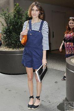 10. #Alexa Chung #(Again) - 10 Celebrities #Wearing Dungarees – Who #Wore… #Blair