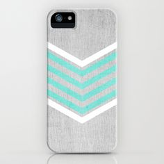 Buy Teal and White Chevron on Silver Grey Wood by Tangerine-Tane as a high quality iPhone & iPod Case. Worldwide shipping available at Society6.com. Just…