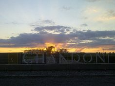 Dawn at Chandon winery, Mendoza
