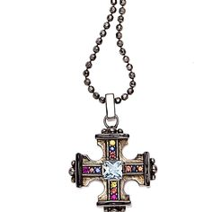 18″ Long MCL Gothic Cross Pendant  #mcl #mcldesign #matthewcampbelllaurenza #laurenzaboutique.com #holiday #gifts