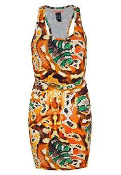 Vestido Colcci Snake Laranja