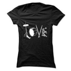 Drum Love - #pink shirt #tshirt packaging. WANT THIS => https://www.sunfrog.com/LifeStyle/Drum-Love-Ladies.html?68278