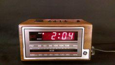 Vintage GE General Electric 7-4601A AM/FM Radio Alarm Clock Tested Working #GE