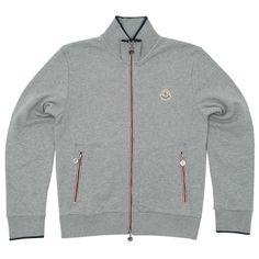 Moncler Zip Up Sweater (Grey)