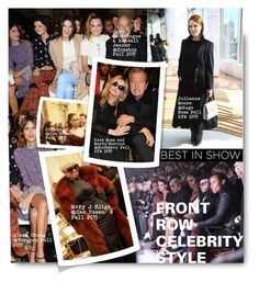 """""""#Front Row Celebrity Style FW2015"""" by nikkisg ❤ liked on Polyvore featuring Topshop, Zac Posen, Burberry, topshop, ZacPosen and HugoBoss"""