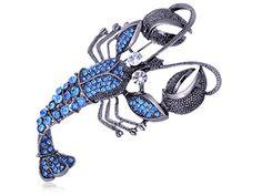 Synthetic Sapphire Crystal Rhinestone Blue Sparkle Sea Lobster Animal Fashion Pin Brooch Alilang http://www.amazon.com/dp/B003MCJQQW/ref=cm_sw_r_pi_dp_MPAfxb0JVTDVG