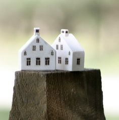 Schoolhouse Miniature Wood Town by saysthetree on Etsy