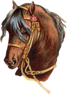 Traditional Tattoo Girls, Horse Clip Art, Horse Stencil, Horse Clipping, Horse Posters, Horse Artwork, Die Cut, Vintage Horse, Animal Crackers