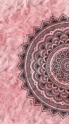 Super Ideas For Mandala Art Wallpaper Iphone Mandala Doodle, Easy Mandala Drawing, Mandala Art Lesson, Doodle Art Drawing, Mandala Tattoo, Sun Mandala, Pink Wallpaper Backgrounds, Wallpaper Wall, Crazy Wallpaper