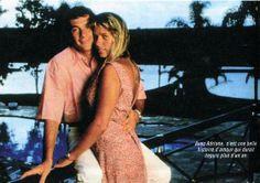 Ayrton Senna e Adriane Galisteu, em revista francesa.