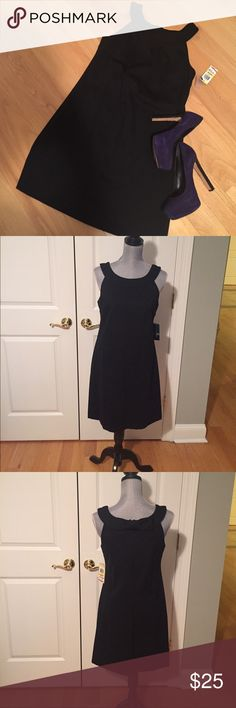 NWT INC international concepts Mod black dress INC International concepts black dress. Size medium. 60% rayon, 35% nylon, 5% spandex. Zipper in the back. Cute bow in the back. INC International Concepts Dresses