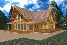 mountain homes single story | 2680 sq.ft. Classic Whistler Log Design Coast Mountain Log Homes