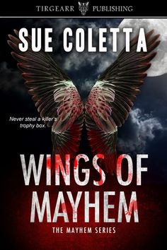Author name: Sue Coletta Genre: Psychological Thriller/Mystery Books: Cleaved, Marred, Wings of Mayhem Bio: Member of Mystery Writers of America, Sisters in Crime, and International … Crime Fiction, Fiction Writing, Book 1, The Book, Sisters In Crime, Good Books, My Books, Female Protagonist, Best Mysteries