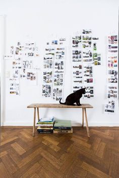 I love the idea of a random pattern of small prints on a wall!
