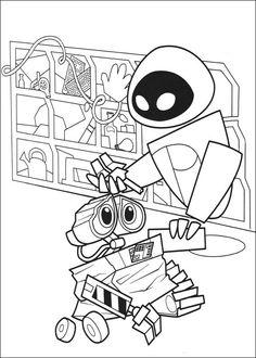 Wall-E Tegninger til Farvelægning. Printbare Farvelægning for børn. Tegninger til udskriv og farve nº 71