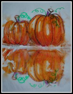 Fine Lines: 3rd Grade Pumpkin reflections- SO CUTE
