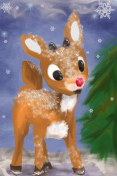 Rudolph the red nose reindeer. Rudolph the red nose reindeer. Merry Christmas, Christmas Time Is Here, Christmas Love, Winter Christmas, Vintage Christmas, Beautiful Christmas Pictures, Rudolph Christmas, Christmas Program, Childrens Christmas