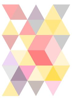 geometric colors by planintime on Etsy