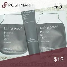 Living Proof Hair Care Bundle #3 New - Never Used  Authentic  Includes: ☆ 5-in-1 Styling Treatment (1oz tube) An oil- & silicone-free styling treatment that provides volume, smoothness, conditioning, strength & polish in one easy step ☆ Shampoo & Conditioner (.33oz pkts) A rich-lather shampoo & weightless, nourishing conditioner that delivers the 5 benefits for beautiful, healthy hair  Don't forget to check out the rest of my page for more great items & discounts. #oneinamillionjillian…