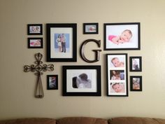 30 Family Picture Frame Wall Ideas Amazing-wall-picture-collage-ideas-with-metal-ornament-and-black-picture-frames-ideas Collage Frames, Photo Wall Collage, Frames On Wall, Collage Ideas, Frames Ideas, Picture Collages, Cross Wall Collage, Family Pictures On Wall, Family Picture Frames