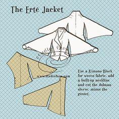 Patrón Puzzle - The Jacket Erté