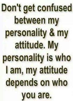 Personality versus Attitude