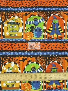 100% Cotton Quilt Fabric / Not So Spooky Halloween Fright By In The Beginning Fabrics / Sold By The Panel