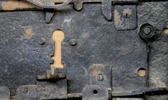 Cerradura antigua. Detalle
