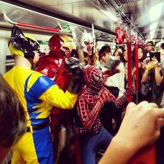 Avengers were in MTR just now!!! #allabouthongkong