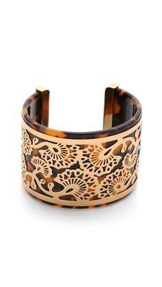 Tory Burch Madura Frete Cuff Bracelet