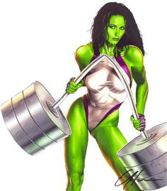 She-Hulk Works Out