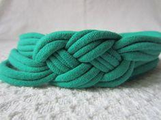 Green Sailor Knot Headband / Celtic Knot Headband / by EcoBands, $8.00