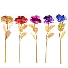 24CM Handcraft Handmade Gold Foil Rose Flower Dipped Long Stem Lovers Gift  Wedding Supplies-in Artificial & Dried Flowers from Home & Garden on Aliexpress.com | Alibaba Group