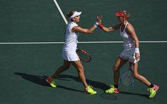 Russian tennis players Ekaterina Makarova and Elena Vesnina were awarded gold…