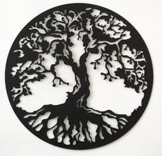 Hand drawn & laser cut metal wall art Tree of Life by StagArtwork, £40.00