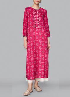 Shop Pink Aira Kurta from Anita Dongre