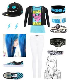 """Maybe I'm better off dead, I seem to be a annoying p.o.s"" by avril-lavigne-fan-forever ❤ liked on Polyvore featuring Vans, Abbey Dawn, J Brand and Brave Soul"