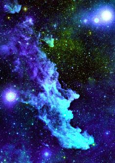 "Astronomy Witch Head Nebula *** Three Rivers Deep (book series) ""A two-souled girl begins a journey of self discovery. Cosmos, Photographie Street Art, Arte Nerd, Across The Universe, Space And Astronomy, Hubble Space, Space Telescope, Galaxy Space, To Infinity And Beyond"