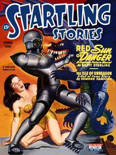 """Dedicated to all things """"geek retro:"""" the science fiction/fantasy/horror fandom of the past including pin up art, novel covers, pulp magazines, and comics. Pulp Fiction, Science Fiction Books, Fiction Novels, Sci Fi Comics, Bd Comics, Pinup Art, Frank Frazetta, Caricature, Art Pulp"""