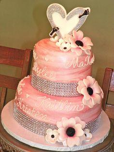 Pretty in Pink Sparkle Cake
