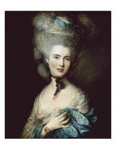 """Thomas Gainsborough, one of the great masters of 18th-century portraiture and landscape painting, was born on today's date, May 14th, in 1727 (d. 1788). Gainsborough is celebrated for the elegance, vivacity, and refinement of his portraits, and """"A Woman in Blue (Portrait of the Duchess of Beaufort)"""""""